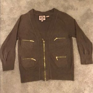 Juicy Couture Sweater with Gold Accents